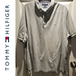 Tommy Hilfiger Grey Twin Tipped Polo Shirt